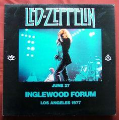 LED Zeppelin Album Covers | Led Zeppelin: 1977 Vinyl Zep Bootleg, inglewood forum, auction action