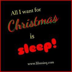 #lilsusieq #alliwantforchristmas  #sleep