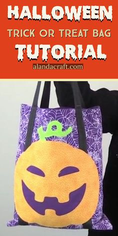 Brother Scan n Cut: Halloween Trick or Treat Bag : Here is a free tutorial on making these Halloween Trick or Treat bags. We used the ScanNCut to cut out the pumpkin face but you can use any applique you like to dectorate the tote bags. Fall Crafts, Holiday Crafts, Crafts To Make, Diy Crafts, Halloween Tutorial, Halloween Crafts, Halloween Ideas, Halloween Party, Halloween Sewing Projects