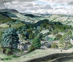 """Stanley Roy Badmin """"Wharfedale Looking Towards Grassington, Yorkshire"""" (First Known When Lost: May 2011)"""