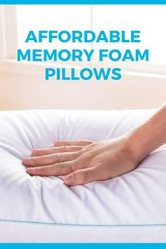 We're believers everyone deserves a good nights sleep. That's why we've created our affordable Shredded Memory Foam Pillows! Knee Pillow, Pregnancy Pillow, Foam Pillows, Best Pillow, Good Night Sleep, Home Decor Accessories, Memory Foam, Essentials, House Design