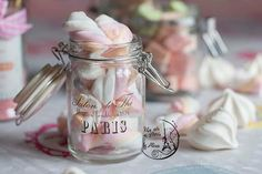 Nursery Pink Marshmallow French Paris by UnAirDeParisByAlbane