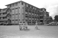 Kandang Kerbau Hospital (KK) - c1950s (NAS) History Of Singapore, Singapore Photos, Singapore Malaysia, Old Pictures, Old Photos, Vintage Photos, Hospital Pictures, Photographs And Memories, The Old Days