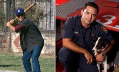 """'The Sandlot' kids: then and now. Admit it, you had a crush on Benny """"The Jet"""" Rodriguez. Guess what? He's a firefighter in LA!"""