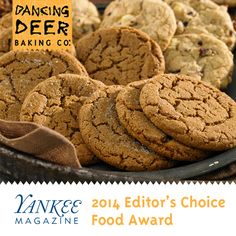 We are thrilled to share that our #DancingDeer Molasses Clove Cookies have been chosen as a winner in @yankeemagazine's 2014 Yankee Editor's Choice Food Awards! Celebrated as our signature cookie, many of our cookie gifts include our scratch-baked, chewy #MolassesClove Cookie. To celebrate, we invite you to save 25% sitewide this weekend! Use offer code YANKEE for 25% off your purchase.