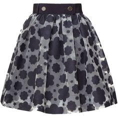 Orla Kiely Cloud Organza Skirt ($365) ❤ liked on Polyvore