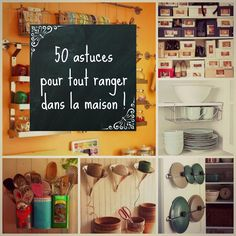 HOME & GARDEN: 50 astuces pour tout ranger dans la maison ! - How to Tutorials Diy Home Organisation, Organization Hacks, Home Tools, Up House, Tips & Tricks, Small Room Bedroom, Organizing Your Home, Organising, Home Hacks