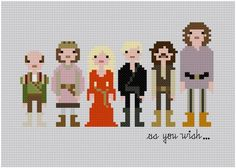 Pixel People  The Princess Bride  PDF Cross by weelittlestitches, $6.00