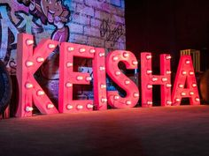 Keisha's Hip Hop Themed Party – Stage setup detail