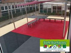 Playground Rubber Soft Spongy Bouncy Safety Surfacing Contractors costs