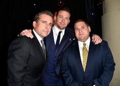 Pin for Later: All' eure Lieblingsstars drängelten sich bei den Hollywood Film Awards Steve Carell, Channing Tatum und Jonah Hill