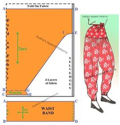Best 12 Salwaar is a leg wear which is usually combined with a Kameez/ Anarkali/Short Kurta. In this post, I have shown pattern making of the very basic Salwaar with waist band including seam allowance. This stepwise pattern is ideal to begin with, if you Kurta Patterns, Dress Sewing Patterns, Sewing Patterns Free, Baby Patterns, Sewing Tutorials, Clothing Patterns, Free Pattern, Lehenga Pattern, Sewing Blouses