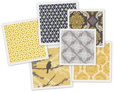 Yellow And Gray Quilting Fabric | gray and mustard combination