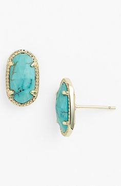 Kendra Scott 'Ellie' Oval Stud Earrings available at #Nordstrom