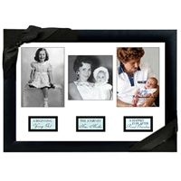 Grandma Life Story Frame - The Beginning: Young Girl / The Journey:  New Mother / A Happy Ever After:  Grandmother