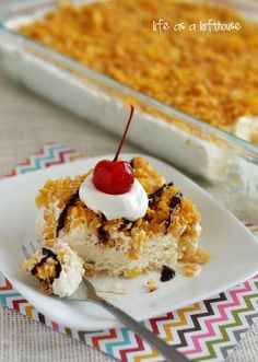 "Easy Mexican ""Fried"" Ice cream Dessert. No deep-frying required, but still tastes the same! so good!"