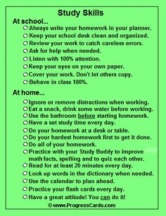 Printables Study Skills Worksheets For Middle School study tips how to and on pinterest skills progress card i love you can print a small checklist touch