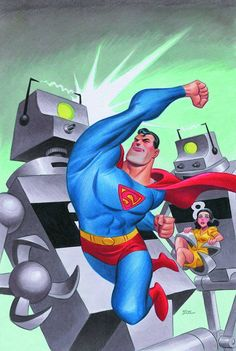 Superman Unchained Vol.1 #1 variant cover by Bruce Timm *