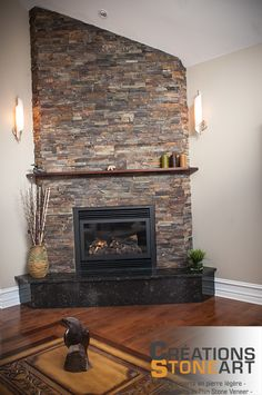 Pin by Wendy Meerdink on Real stone fireplace | Pinterest