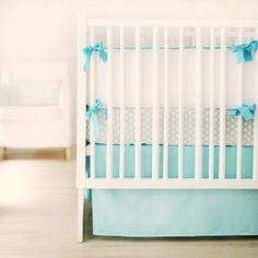 Sweet & Simple Baby Bedding in Aqua