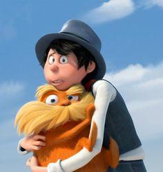 Once ler and the Lorax Art Disney, Disney Movies, Disney Pixar, Cute Cartoon Characters, Cartoon Man, Disney Characters, The Lorax, Dreamworks, Netflix