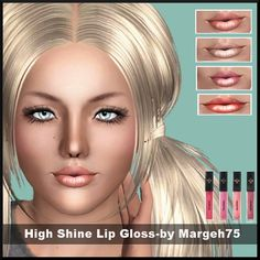 High Shine Lipgloss by Margeh75 at BTB Sims - Sims 3 Finds