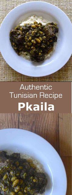 Pkaila is the most famous Jewish Tunisian dish. This beef stew, prepared with fried spinach and white beans, is often served with couscous. #Tunisia #196flavors