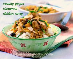 Haven't made curry yet? Then try this sweet, mild, fruity and creamy GINGER CINNAMON CHICKEN CURRY! Everyone who's tried this totally love it! Am sure you will, too.