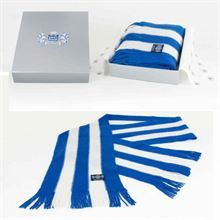 Show details for Royal Blue & White Vertical striped Cashmere Bar Scarf Italy Football Shirt, Retro Football Shirts, Football Kits, Sport Football, Uk Weather, Sport Online, Kids Boots, Vertical Stripes, Vintage Tops