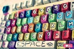 make your keyboard colorful and adorable!