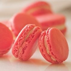 Coral macarons - more coral peach tangerine salmon and orange here: http://mylusciouslife.com/colour-me-coral/