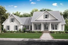 Traditional Style House Plan 56713 with 3 Bed, 3 Bath, 2 Car Garage-Traditional . Traditional Style House Plan 56713 with 3 Bed, 3 Bath, 2 Car Garage-Traditional Farmhouse Style House Plan Tr Modern Farmhouse Plans, Farmhouse Design, Country Farmhouse, Farmhouse House Plans, French Country, Farmhouse Decor, Farmhouse Addition, Farmhouse Homes, Farmhouse Ideas