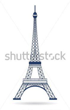 Vektorové Eiffelova Věž V Ikony Designu vektor z knihovny - Clipart.me