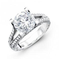 14K White Gold Diamond Engagement Ring 0.70 ct tw