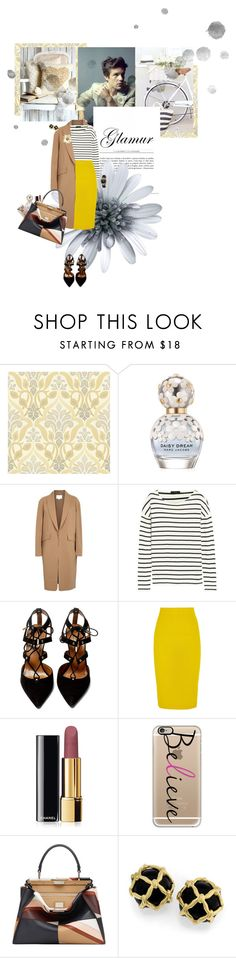 """""""Untitled #286"""" by sanja1992 on Polyvore featuring Marc Jacobs, Alexander Wang, J.Crew, Aquazzura, Chanel, Casetify, Fendi and Versace"""