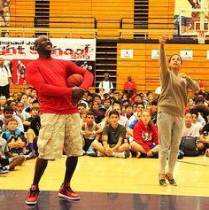 Michael Jordan Wearing Jordan 4 at camp