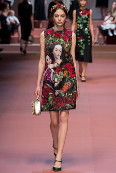 #fashion editorials, shows, campaigns & more!: #dolce and #gabbana #d&g #fw 2015.16 #milan #runway #couture #floral #graphic