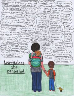Every Mom Will Relate To This Artist's Take On 'Nevertheless, She Persisted' | The Huffington Post