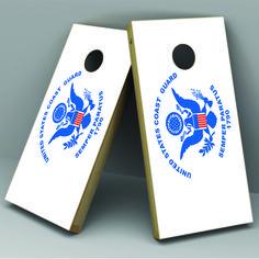 Coast Guard Cornhole Board Vinyl Decal Wrap