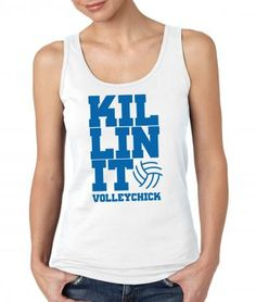 Our latest volleyball shirt, KILLINIT - featured here on a junior tank - available in long or short sleeve also.