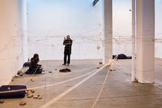 Yoko Ono, The Riverbed exhibition at Galerie Lelong, New York,December 11, 2015 – January 30, 2016;Photography by Blair Prentice   See more art on iheartmyart.com   #art   #artist   #iheartmyart   #YokoOno   #conceptualart   #NYC   #BlairPrentice