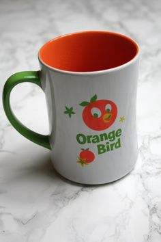 "Disney mug of the month - drinking out of one of my favorite Disney mugs with the Orange Bird - ""think orange thoughts!"""