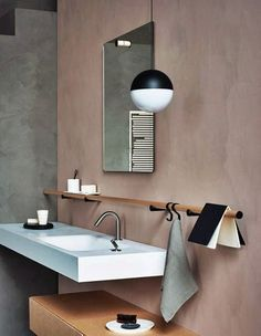 Totally Awesome Wedding Ideas for Yours Salle De Bain Rose Poudre Bathroom Interior Design, Home Interior, Modern Interior Design, Interior Decorating, Interior Paint, Bad Inspiration, Bathroom Inspiration, Bathroom Ideas, Earthy Bathroom