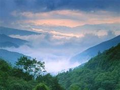 The Great Smoky Mountains.  Maybe I'll live there, someday ...