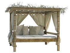 outdoor bereich-einrichten sommerliche möbel-bambus himmelbett ...