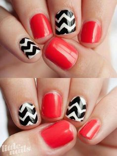 Black & White Chevron with Red- maybe Ill switch out the chevron with mustaches?!