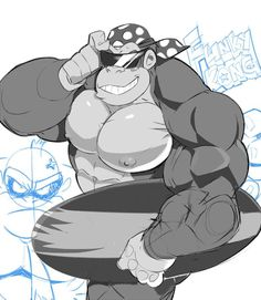Donkey Kong, Undercover, Furry Art, Beast, Anime, Muscle, Clothes, Outfits, Clothing