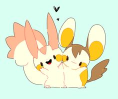 色違い Pokemon Pachirisu and Emolga