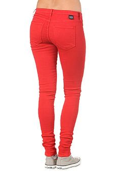 DR. DENIM Womens Kissy Pant red