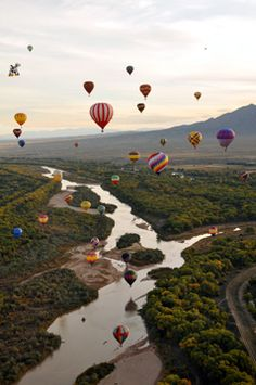 You have to try it once.  So beautiful and peaceful--Albuquerque New Mexico Hot Air Balloon Festival.